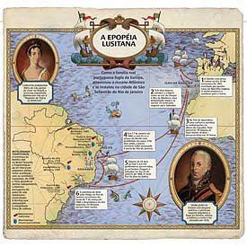 Infográfico Sattu e Luiz Iria (consultor), inspirado no mapa do Brasil e regiões circunvizinhas (1798), de Giovani Maria Cassin