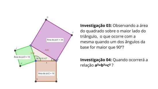 Investigando áreas e ângulos em triângulos