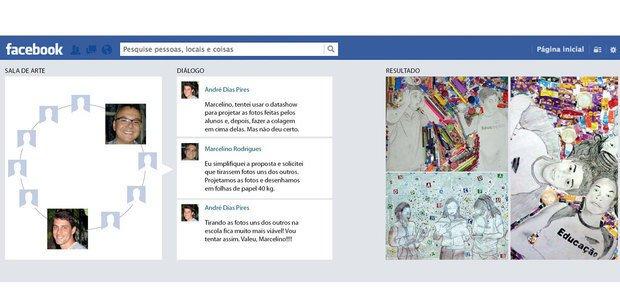 Reportagem sobre educadores que trocam informações e atuam em conjunto nas redes sociai . Fotos Arquivo pessoal