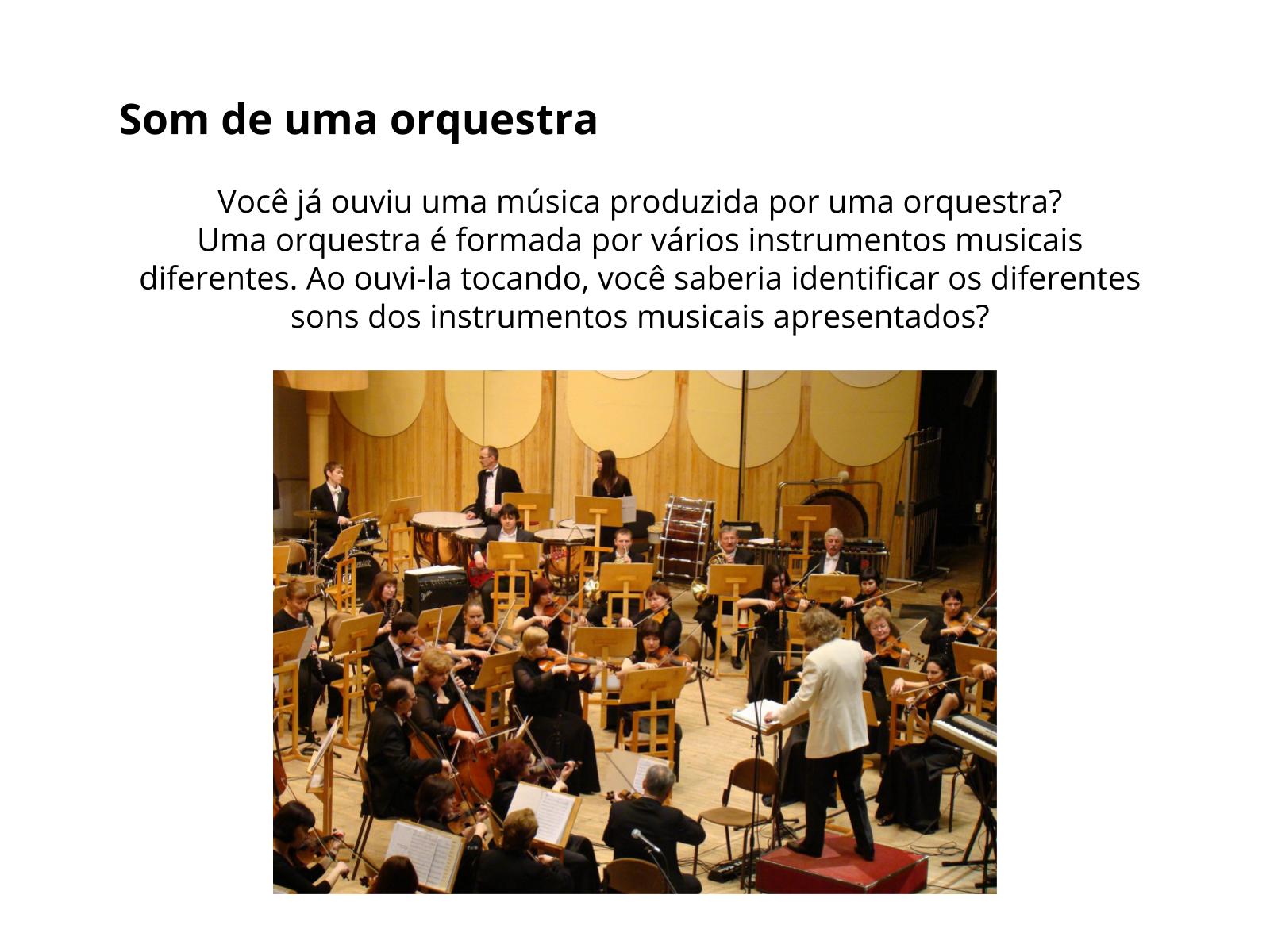 Orquestrando o som - O som nos instrumentos musicais