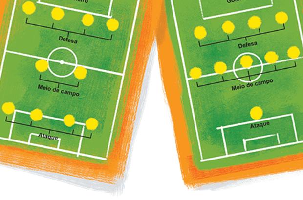 <strong>4-2-4</strong> <em>(à esq.)</em>: Tanto defesa quanto ataque são privilegiados. Assim, os dois jogadores centrais têm como única função ser a ponte entre os dois extremos do campo, passando a bola de um para outro. <strong>4-5-1</strong>: Apesar de investir na defesa, os jogadores centrais estão aptos para chegar ao ataque, o que torna a ofensiva também forte. Isso se deve à melhoria do preparo físico dos atletas ao longo da história. Bruno Algarve