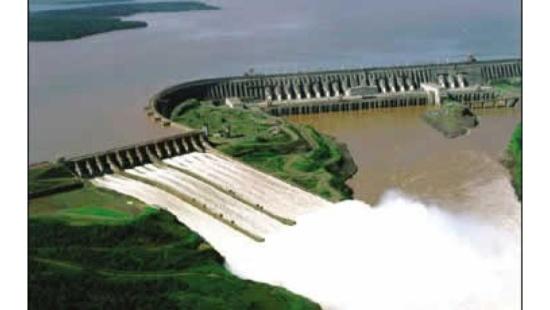Água e a produção de energia elétrica.