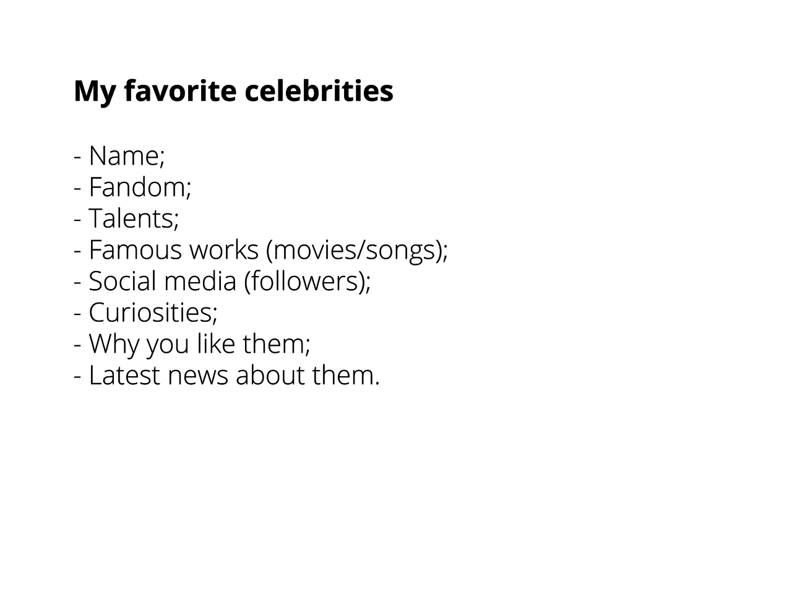 O futuro das celebridades