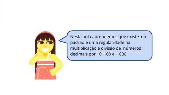 Regularidade na multiplicação e divisão de decimais por 10, 100 e 1 000