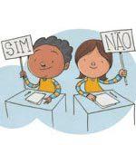 A garotada só responde sim e não. Ilustração: Pedro Hamdan