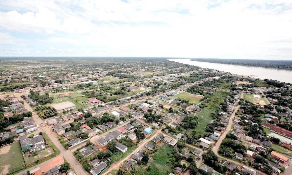 Vista aérea de Humaitá, no Amazonas