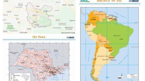 Escalas geográficas nos mapas
