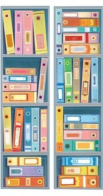 Guardar papéis importantes. Ilustração: Rogério Coelho