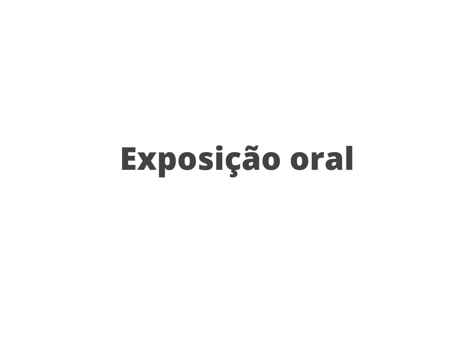 Exposição oral