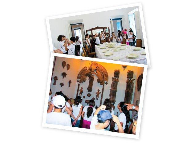 Em Goiás e num museu de Goiânia, a garotada analisou o que contam as peças do cotidiano. Fotos Arquivo pessoal/Ataíde Felício dos Santos