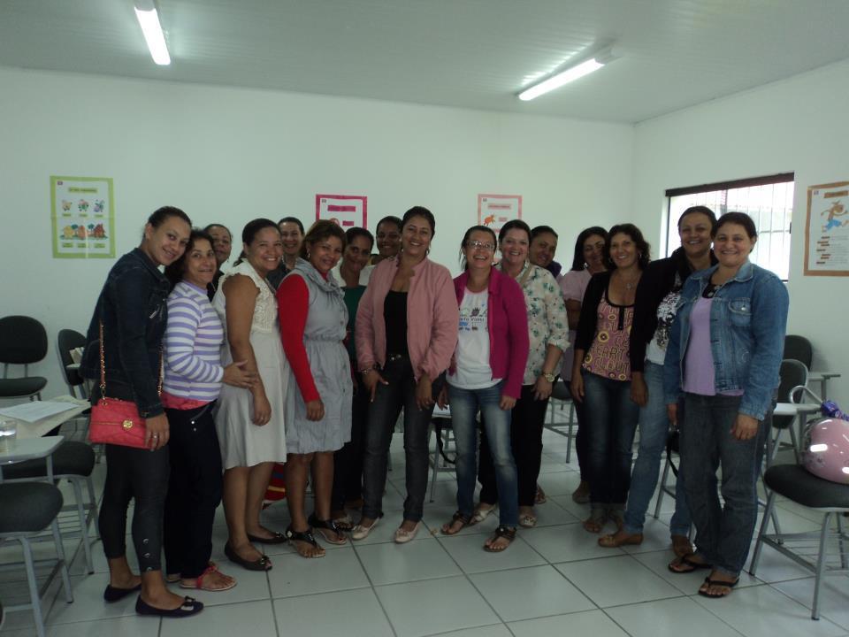 A professora Leila Cristina e colegas da rede municipal de Ibicui, na Bahia