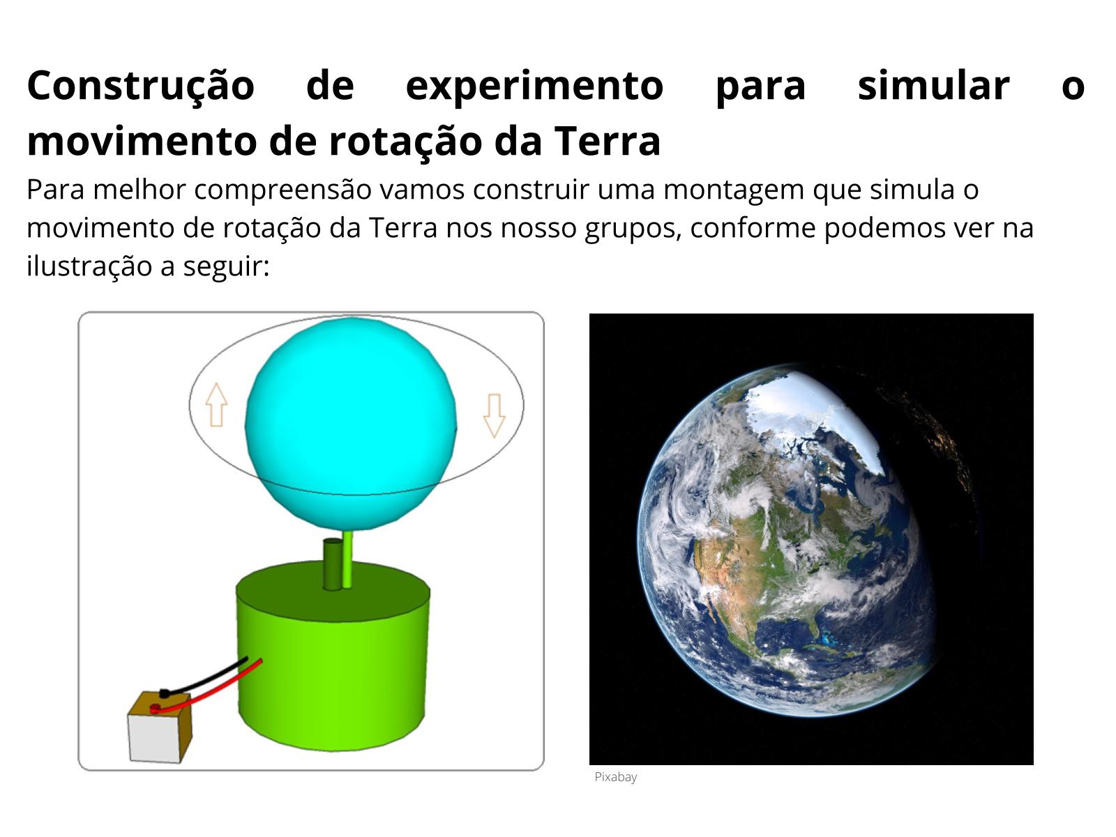 Características do movimento de rotação da Terra