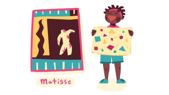 Recorte e colagem de Henri Matisse