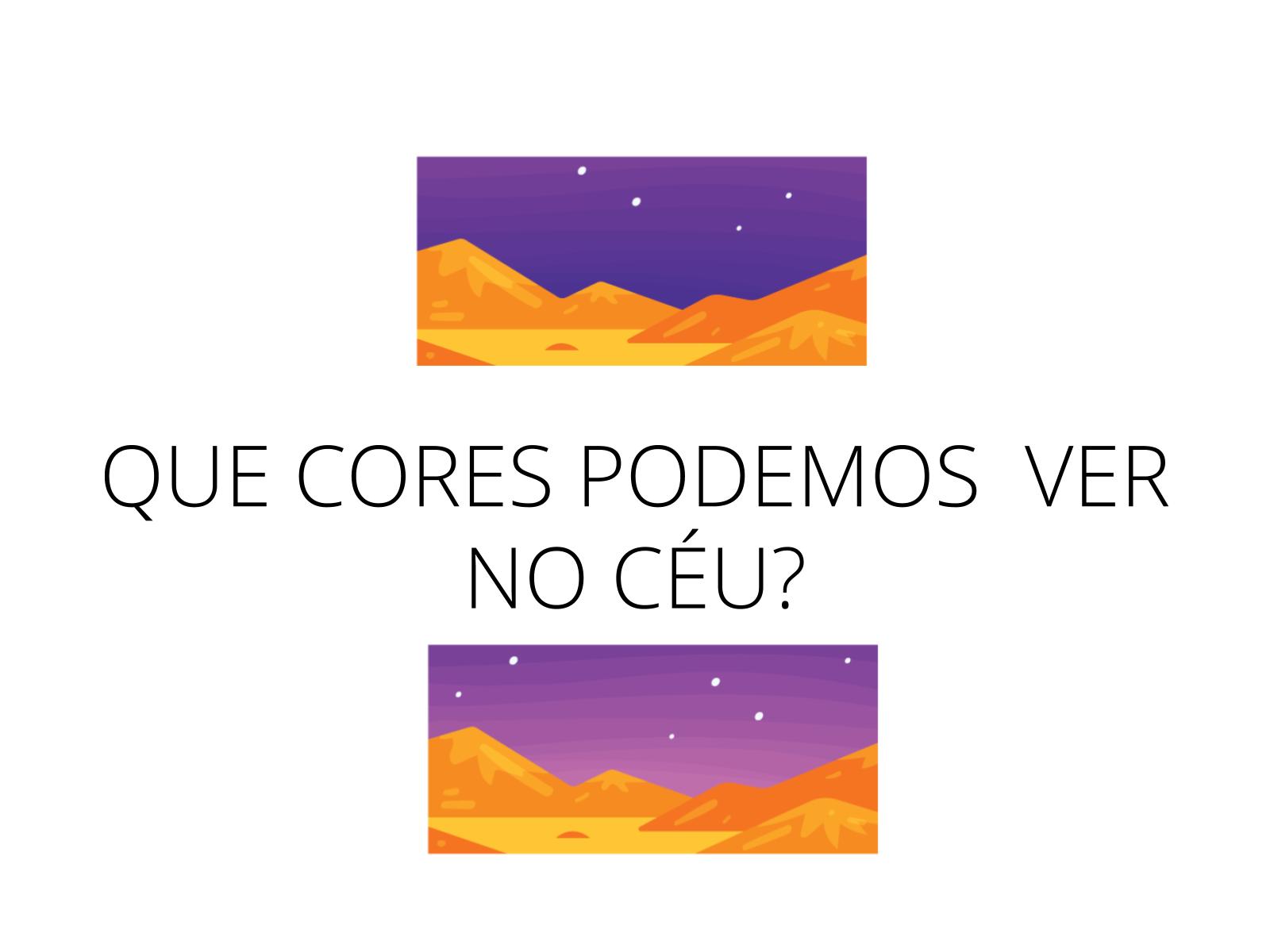 AS CORES DO CÉU