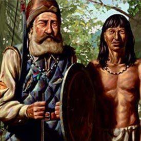 NOSSA RECRIAÇÃO A ilustração retrata os sertanistas segundo a descrição de documentos históricos. Ilustração: Éber Evangelista