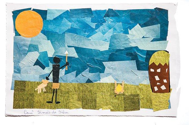 Para sistematizar o saber, a turma produziu textos e mosaicos sobre os sambaquieiros. Marcelo Almeida