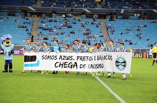 Racismo. Time de futebol do Grêmio. CRÉDITO: Edson Vara/Grêmio FBPA