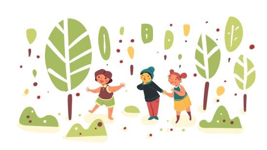Faz de conta na floresta: sentimentos e expressões