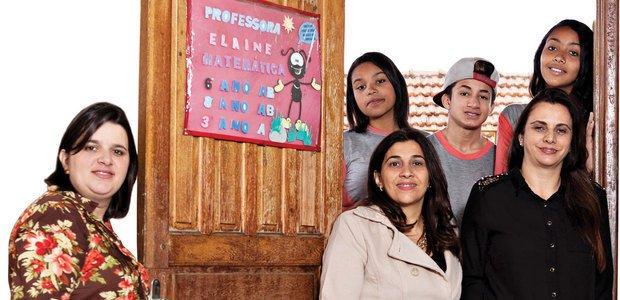 A equipe de Ana Maria, Michele e Elaine envolveu os alunos contra a depredação. Raoni Maddalena
