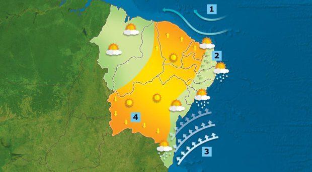 Por que não chove no sertão nordestino? Ilustração: Bruno Algarve