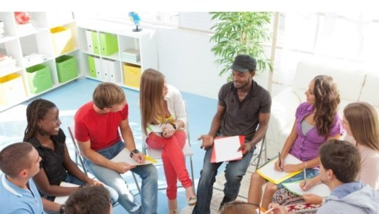 A sala de aula: Frente, Atrás, Esquerda e Direita
