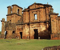 Ruínas de São Miguel das Missões, no Rio Grande do Sul. Foto: Paula Takada