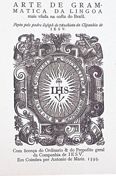 A gramática do tupi elaborada pelo padre José de Anchieta. Reprodução/Coleção particular