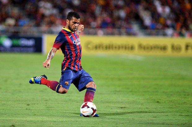 Racismo. Daniel Alves, jogador de futebol do Barcelona. CRÉDITO: Shutterstock