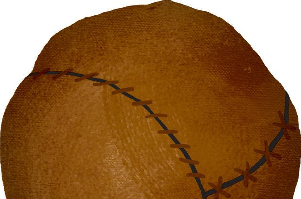 As bolas mais antigas eram de couro e, quando molhadas, ficavam muito pesadas. Bruno Algarve