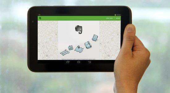 Tablet com o aplicativo Evernote. Foto: André Menezes