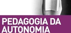 Detalhe da capa do livro Pedagogia da Autonomia, de Paulo Freire