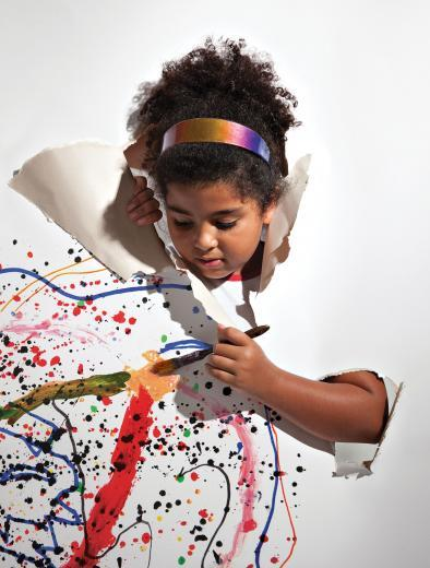 Criança protagonistas da produção artística
