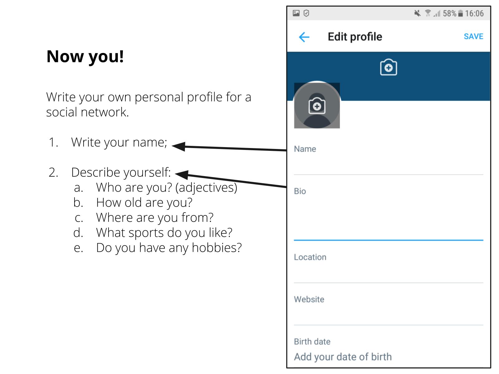 Perfil pessoal online