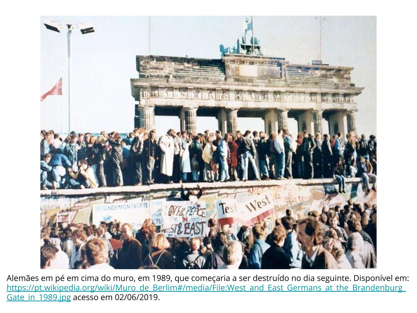 A queda do Muro de Berlim  e o colapso do bloco soviético