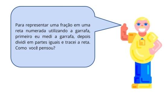 Comparação das frações 1/2 e 1/3 na reta numerada - Jogo de argolas.