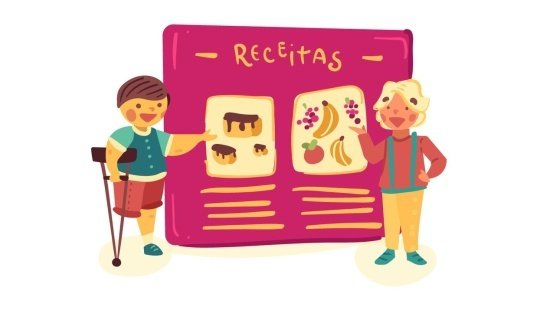 Ilustrando o livro de receitas