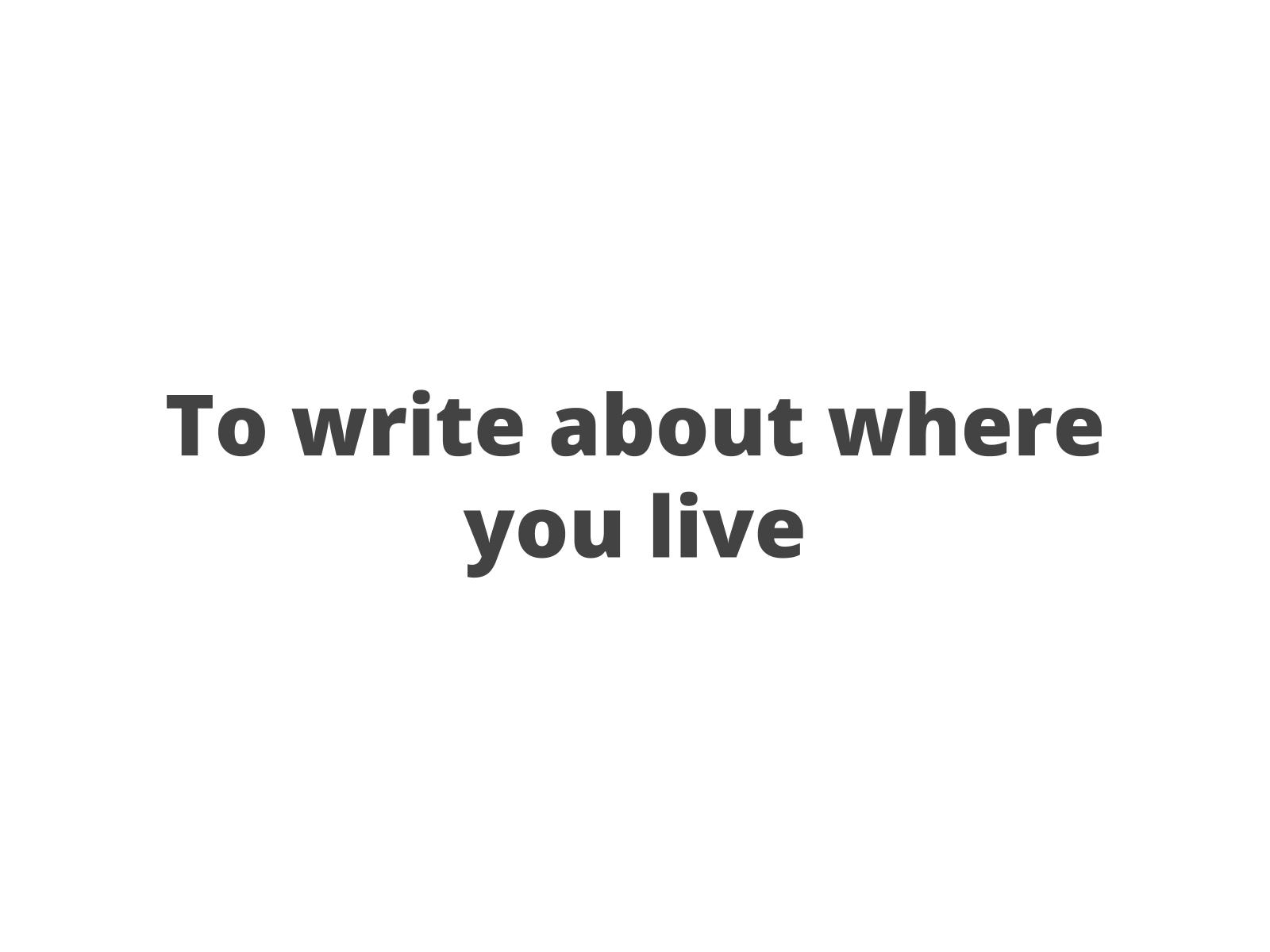 Meu lar e minha comunidade