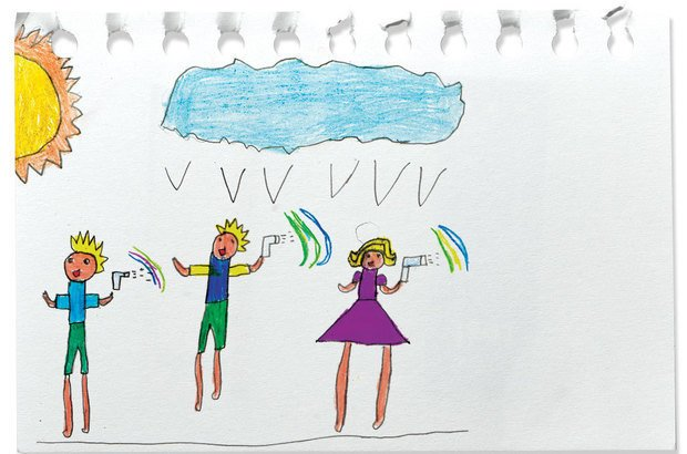 A classe registrou suas hipóteses e as comprovações com textos e desenhos. Arquivo pessoal/Maria Nizete Nogueira