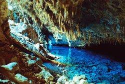 Gruta do lago azul - Bonito, MS. Foto: Rico