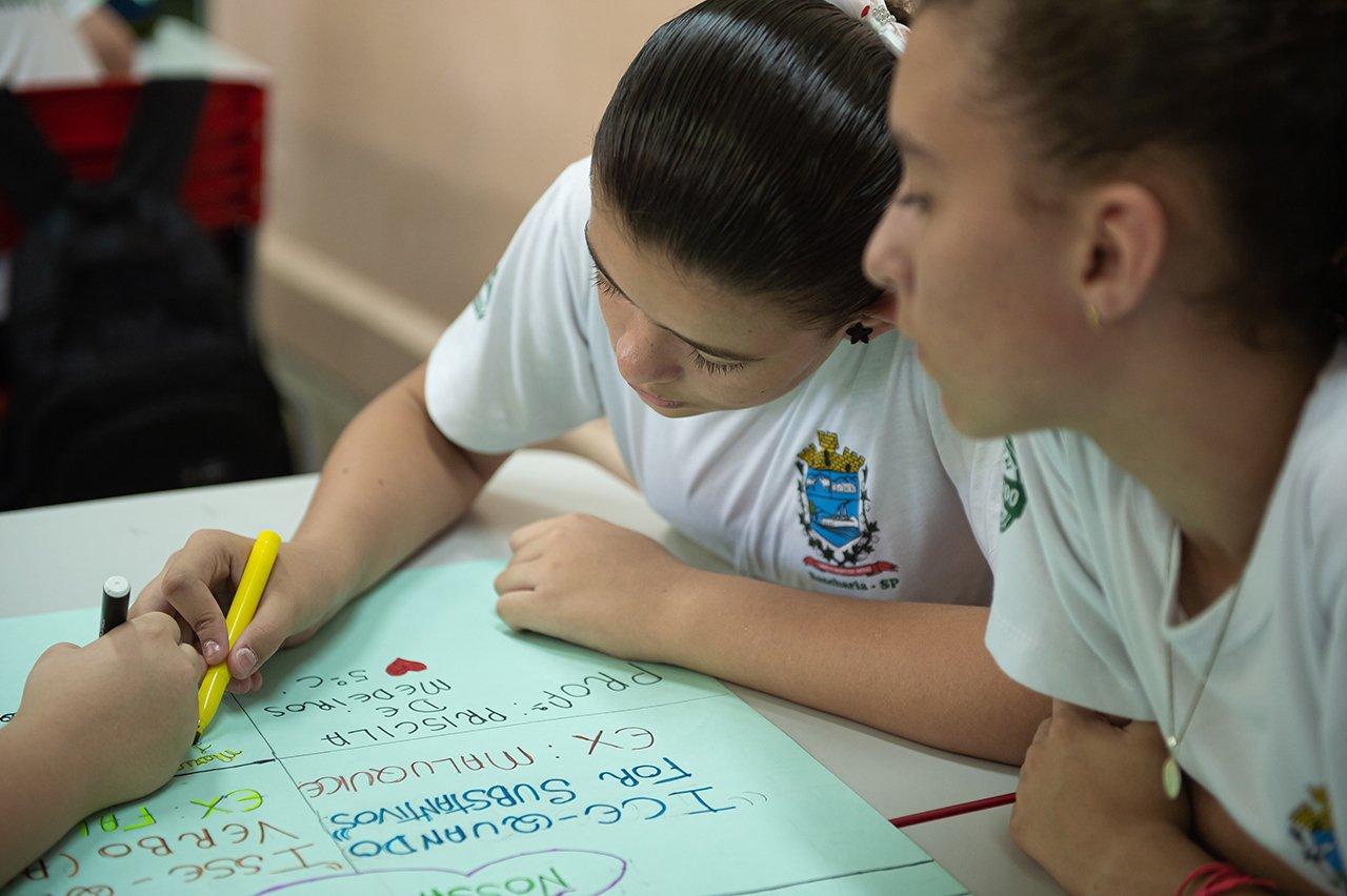Os alunos de Priscila de Medeiros na EM Dona Miloca, em Rancharia (SP)