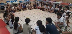 Uma assembleia em uma sala de aula do Ensino Fundamental 1 na EMEF Francisco Cardona, em Artur Nogueira (SP)