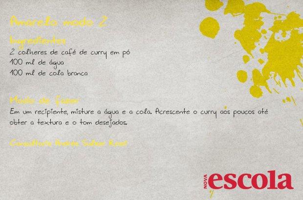 Receita natural de tinta amarela