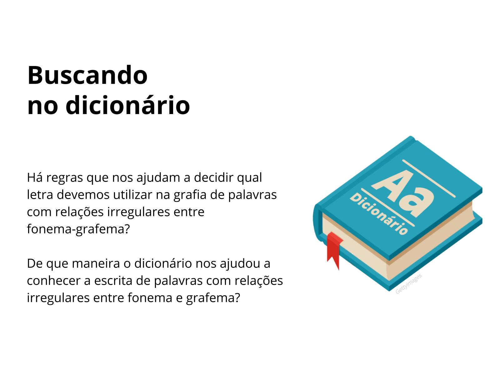 Procurando no dicionário