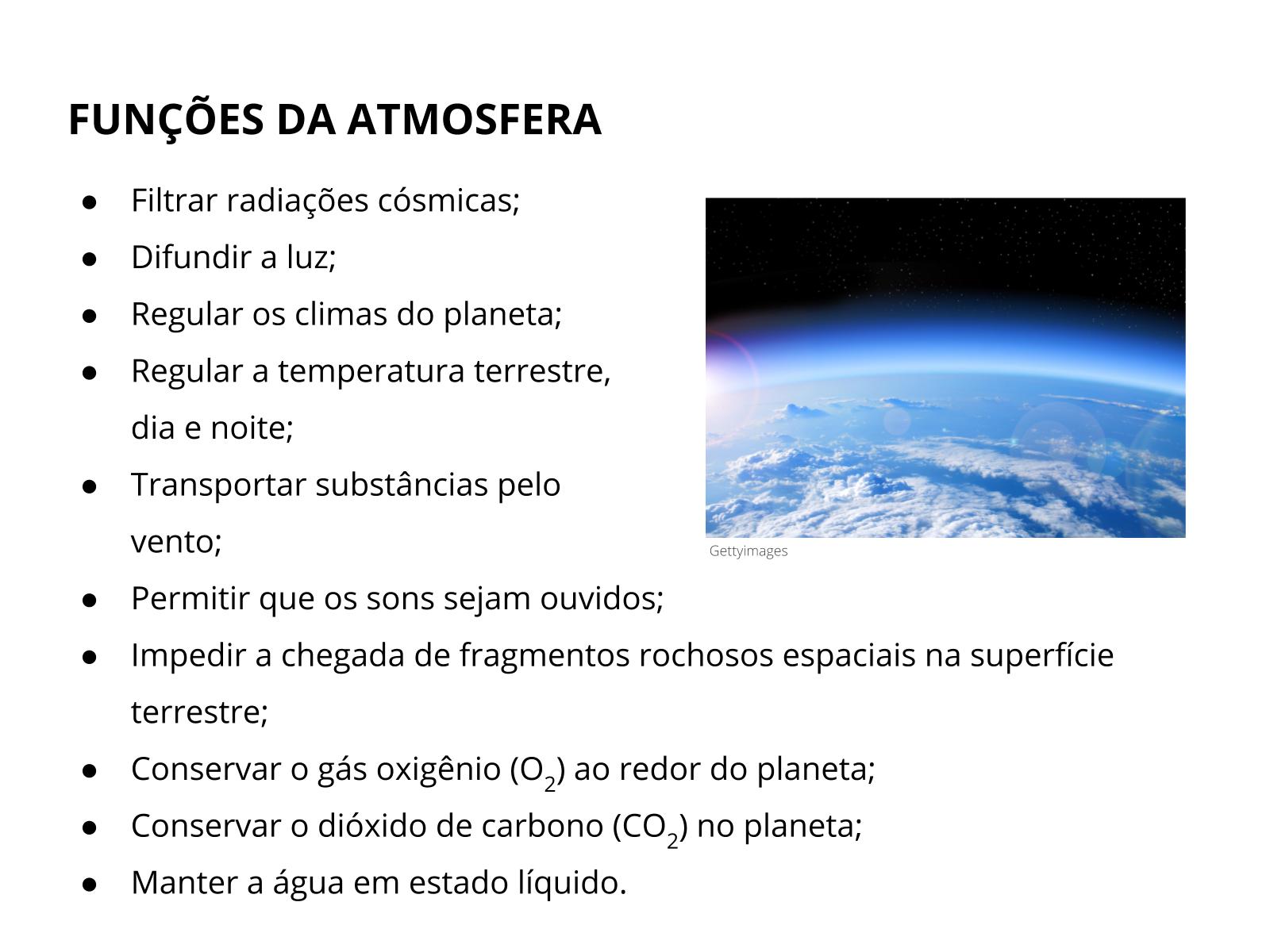 A atmosfera e a vida na Terra