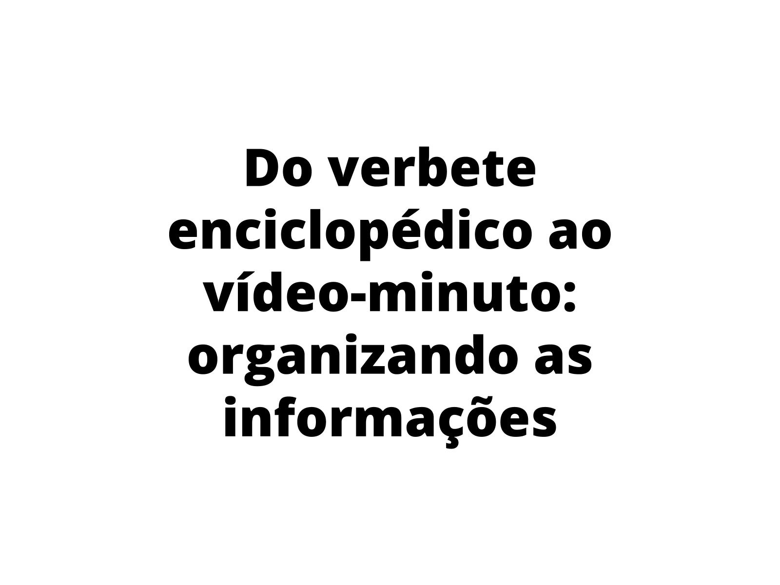 A produção de um vídeo-minuto a partir de slides de apresentação