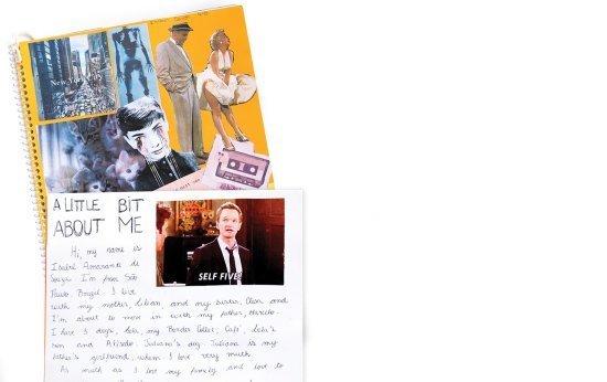 Scrapbook dá sentido às aulas de inglês