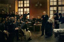 MÉTODO HIPNÓTICO Charcot, dando aula em Paris, mostra como conhecer o inconsciente. Foto: Hulton Archive
