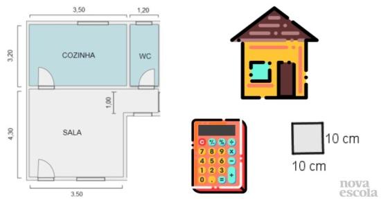 Resolução de problemas: área de quadrados e retângulos