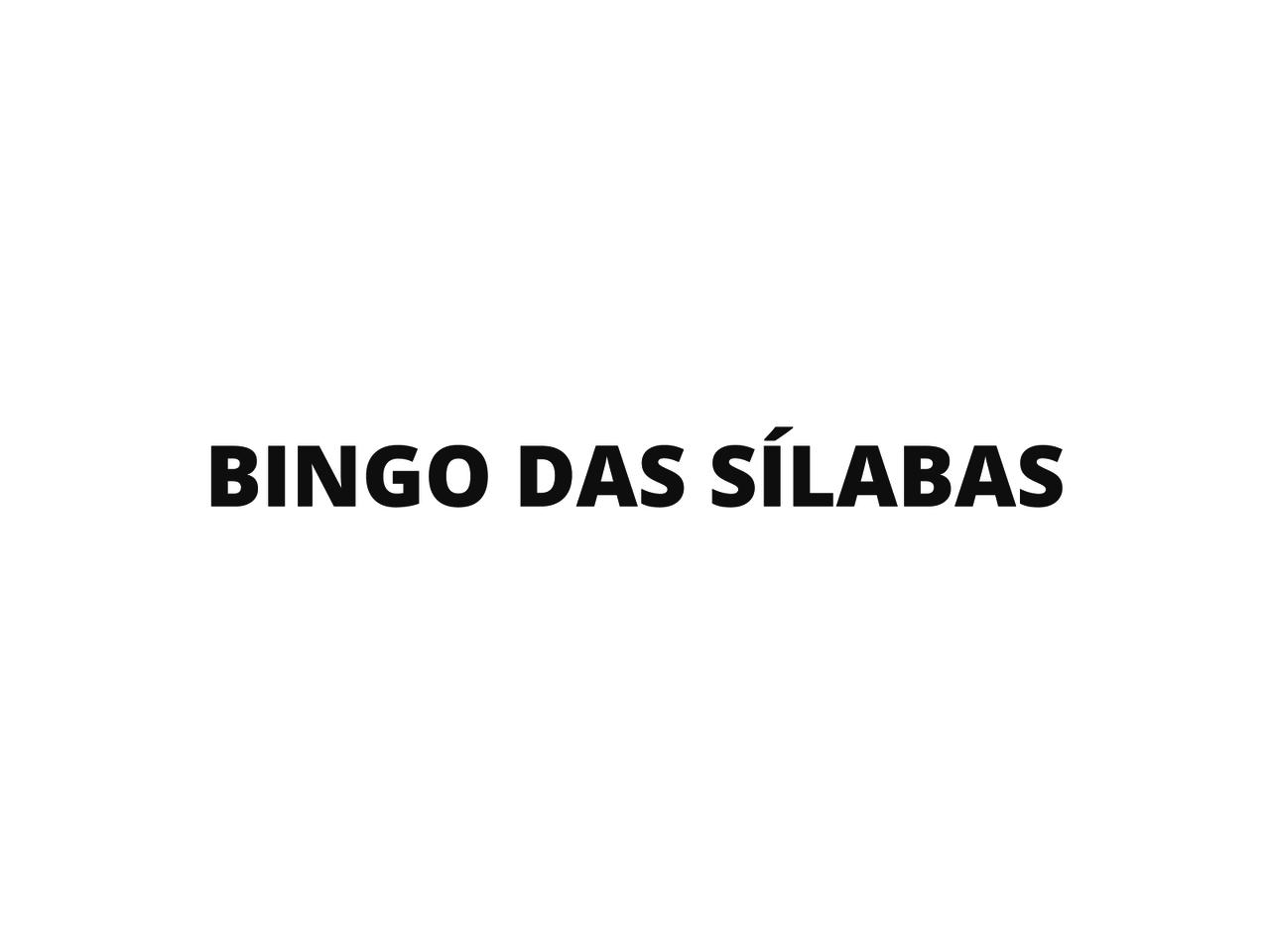 Plano De Aula 1º Ano Lingua Portuguesa Bingo Das Silabas