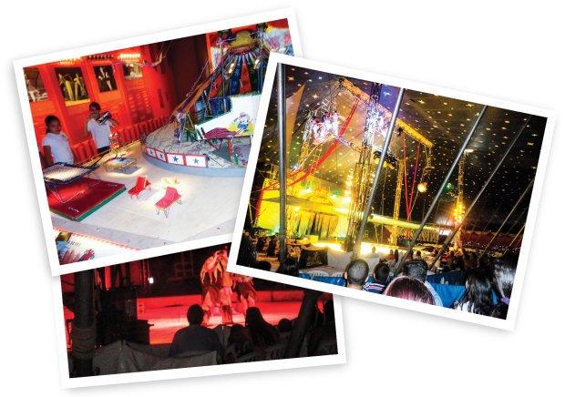 No Centro de Memória do Circo e durante um espetáculo, o tema das aulas foi aprofundado. Fotos Arquivo pessoal/Marcos Ribeiro